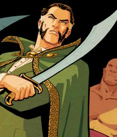 "The fifth episode of Arrow bears the title ""The Demon's Head,"" which, is the English translation of the Arabic name of Batman villain Ra's Al Ghul. Comic Book Villains, Comic Books, Nyssa Al Ghul, Dc Comics, League Of Assassins, Ras Al Ghul, Arrow, Talia Al Ghul, Batman Begins"