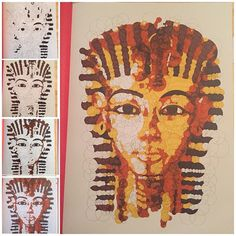 "Querkles Masterpieces: A Puzzling Colour by Numbers Book: by Thomas Pavitte - ""Death Mask of Tutankhamun"""