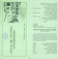 """""""II Ciclo de Teatro Aficionado"""" Cuenca Mayo 1982 Organizado por la Asociación de Amigos del Teatro de Cuenca #Cuenca #Teatro #AsociacionAmigosTeatroCuenca"""