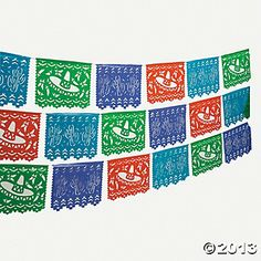 Mexican Cutout Banner - at Oriental Trading. Good alternative if DIY doesn't work.