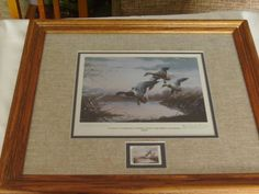 Bid on this item and it could be yours!  1986 National Water Fowl signed print with commemorative postage stamp framed https://nfbidaho.afrogs.org/#/browse/onlineItems/all/all/