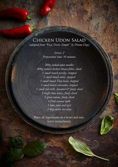 Chicken Udon Salad & Yerba Mate Tea