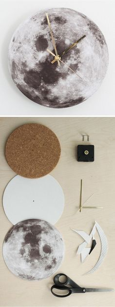 Diy Wall Clocks 854276623038303124 - DIY moon clock tutorial Source by Diy Décoration, Easy Diy, Mur Diy, Moon Clock, Diy Inspiration, Diy Clock, Clock Ideas, Clock Art, Clock Decor