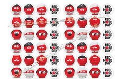 48 Red nose day  2017 noses comic relief cake Toppers 30mm buy2get1free