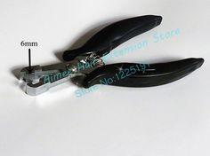 Wholesale sales of antirust plating flat hair Black handle 6mm model extensions forceps / hair extension tools