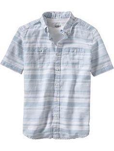 Men's Chest-Pocket Regular Fit Shirts | Old Navy