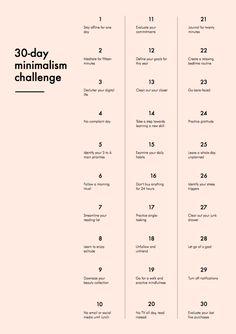 The 30-Day Minimalism Challenge