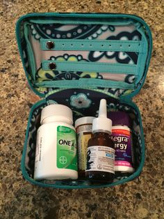 Thirty One Baubles & Bracelets Case. Great for anything on the go especially meds. http://www.mythirtyone.com/kimsharples