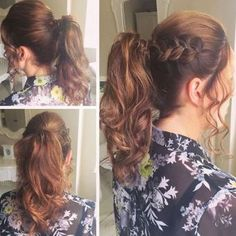 wavy pony with a bump and braid