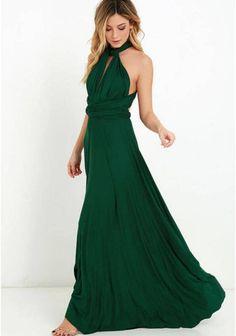 20 colors, Long dresses, Infinity Dress, Dress transformer, Bridesmaid Dresses, Bridesmaid Gift, Boho dress,  Dark green dress