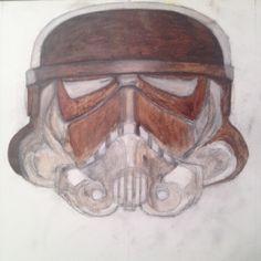 Under painting progress from Storm Trooper helmet series.