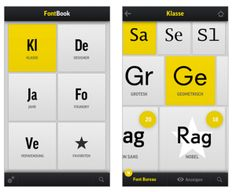 Fontbook - available on iPhone
