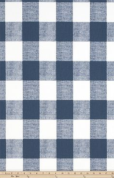 Anderson Premier Navy by Premier Prints Buffalo Check/Plaid