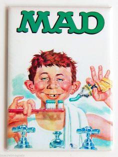 "Mad Magazine ""Toothpaste"" FRIDGE MAGNET alfred e. neuman"