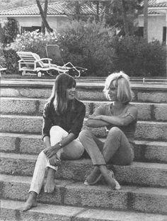 Sans m'en faire, je vais t'assurer un enfer. - Françoise Hardy & Sylvie Vartan - Coupures de...
