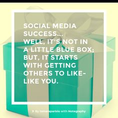 Note with content: SOCIAL MEDIA SUCCESS... check