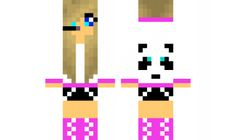 minecraft skin gammer-girl