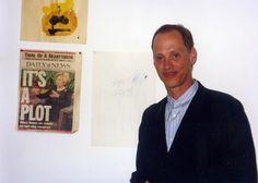 John Waters at NYPress offices, Manhattan, 1998.