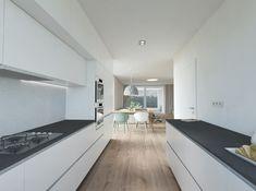 Kuchyňa Kitchen Island, Kitchen Cabinets, Indoor, Design, Home Decor, Ideas, Houses, Kitchen Maid Cabinets, Interieur