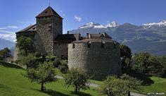 Castle of Vaduz, home of the Liechtenstein princely family.