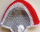 OSU Ohio State University Crochet Baby Beanie