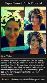 Pinterest Tutorials: Paper Towel Curls Tutorial