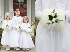 manicotto damigelle | fur muff for flower girls | Winter bride look |  look sposa invernale | Baby, It's cold outside! http://theproposalwedding.blogspot.it/ #winter #bride #look #cold #freddo #inverno #sposa