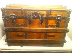 Antique Steamer Trunk : Joshua Conner Manufacturing