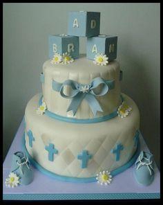 christening cakes for girls | chocolate christening cake