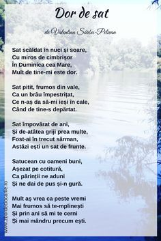 poezii romanesti, poezii despre sat, poezii romani, poezii Moldova, poezii de Valentina Sarbu-Pelivan Romani, Education, Literatura, Onderwijs, Learning