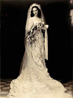 "Iraqi bride 1940s ... ahh... back when a veil was a veil. white, and worn for one ceremony. Then put away in the attic. Not the present day Honor Killing, acid attacks, how to beat your wife Etiquette, mulit-wives, stoned to death, beheaded for talking back. Only 30 years ago, or less, women in Mid East were FREE> Shariah Law is Enemy of ""feminism"". & FREEDOM"