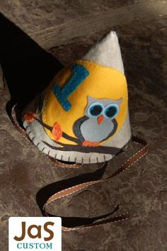 JaS Custom Felt Party Hat- Boy. $22.50, via Etsy.