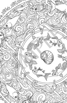 Majestic Mandalas - Series 1 - Assortment of 5 adult coloring pages for instant download - 5 artistic themes for relaxing coloring