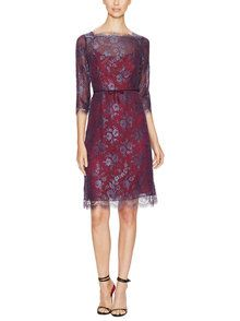 Scalloped Lace Boatneck Dress