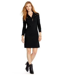 French Terry Moto Dress - Lauren Jeans Co. Short Dresses - RalphLauren.com