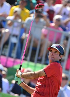 USA's Bubba Watson competes in the men's individual stroke play final day at…