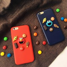 New Fashion Designer 3D Sesame Street Chocolate Dessert Plastic Hard Case for iphone 6 6s 6 plus 7 7 Plus Back Cover Case