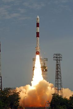 India's Polar Satelite Launch Vehicle (PSLV) launching from Satish Dhawan Space Center. Credit ISRO.