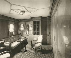 Interior of the Lusitania, 1905-1907 Regal Suite Parlor