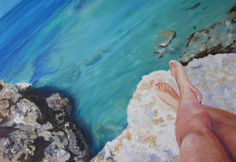 Can you hear it? Sea Melody - Oil on canvas 55x38   https://www.facebook.com/PaintingIsAFeeling  http://society6.com/Marypalace/Sea-Melody_Print