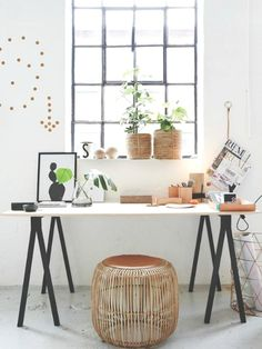 Home office inspiration Workspace Inspiration, Interior Inspiration, Room Inspiration, Estilo Interior, Home Interior, Sweet Home, Ideas Hogar, Bureau Design, Home Office Decor