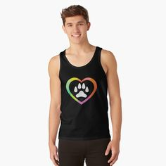 'Dog paw in heart' T-Shirt by mikenotis Halloween Boo, Halloween 2020, Halloween Shirt, Tank Top Shirt, Tank Tops, Paws T Shirt, Cute Ghost, Cat Shirts, Dog Paws