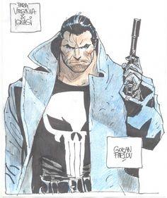 Punisher by Goran Parlov  via Comic Art Gallery Room