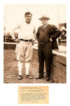 """The Mighty Bambino Meets The New Manager 83 Years Ago Today - St. Petersburg, FL - March 3, 1931 Wide World Photos: St. Petersburg, FLA. - """"Babe Ruth, slugger extraordinary of the New York Yankees, greets Joe McCarthy, new manager of the club at the training grounds in St. Petersburg. FLA. After this meeting, Ruth participated in his first workout of the spring season."""""""