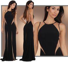 Backless Prom Dress,Mermaid Prom Dress,Black Prom Dress,Fashion Prom