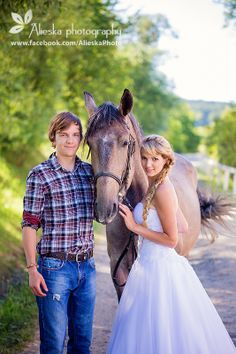 #horsewedding, #bride, #groom, #vintagewedding, #horse, #wedding, #vintage, #farm, #horses, #alieskaphoto, #jeans, #country, #countrywedding, #nature, #equestrian wedding
