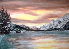 Painting «Maloja» by Nadine Reifenberger, Acrylic on canvas board, 70 x 50 cm, 2015, grenadine.de.to