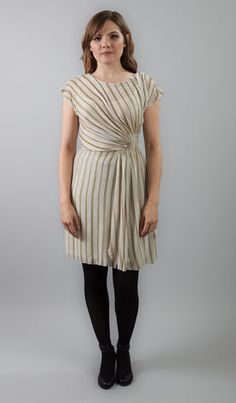 Fancy French Cologne Holiday Stripes Dress