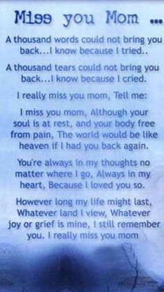 Love My Mom Quotes, Mom In Heaven Quotes, Mom Quotes From Daughter, Heaven Poems, Grief Quotes Mother, Uplifting Quotes, Inspirational Quotes, Mom I Miss You, Mom Poems