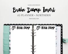 A5 Planner - Brain Dump Printable Insert [Northern] Printable Planner, Printables, Brain Dump, Letter Size Paper, Planner Inserts, Printed Materials, Filofax, A5, Meant To Be